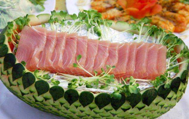 Món gỏi Cá ngừ độc đáo (Ảnh: ST)